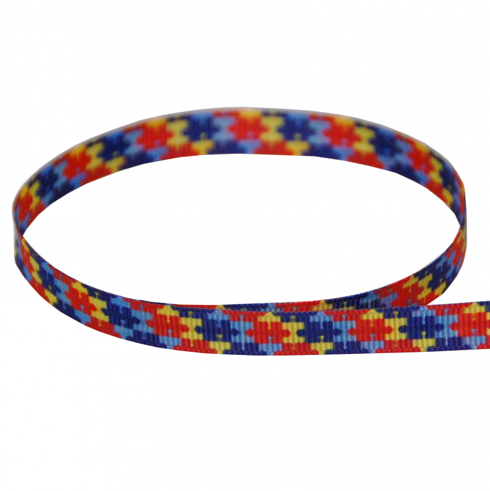 Printed Autism Ribbon